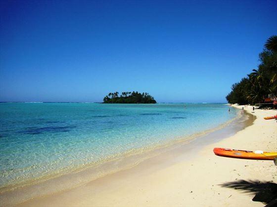 Beach view from Muri Beachcomber
