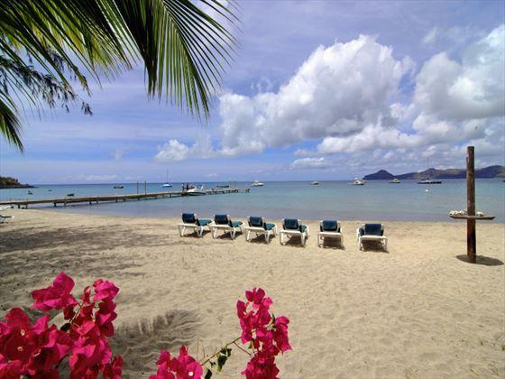 Beach views from Oualie Beach Resort