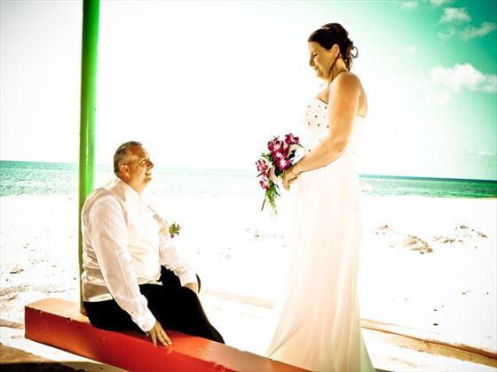Beach wedding, Jamaica