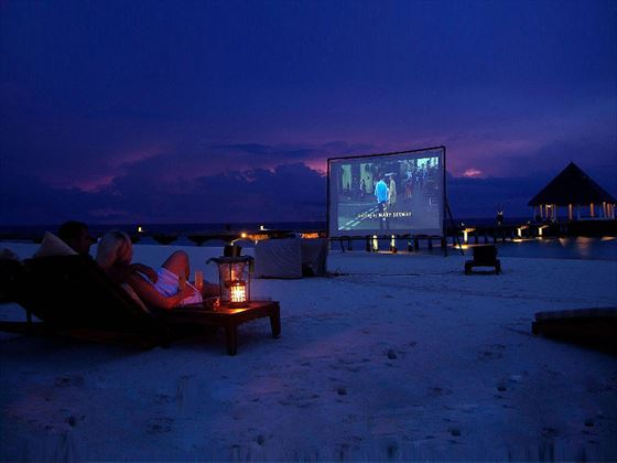 Beachfront cinema at Coco Bodu Hithi