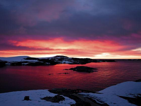 Stunning sunset over Antarctica