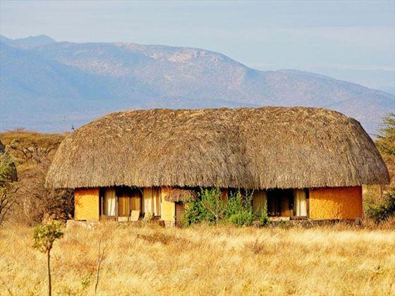 Bedroom cottage at Samburu Sopa Lodge