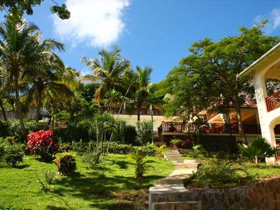 Bequia Beach Hotel gardens
