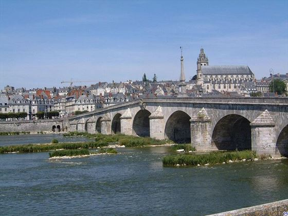 The historic town of Blois in the Loire Valley