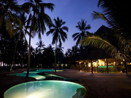 Bluebay Resort & Spa pool at night