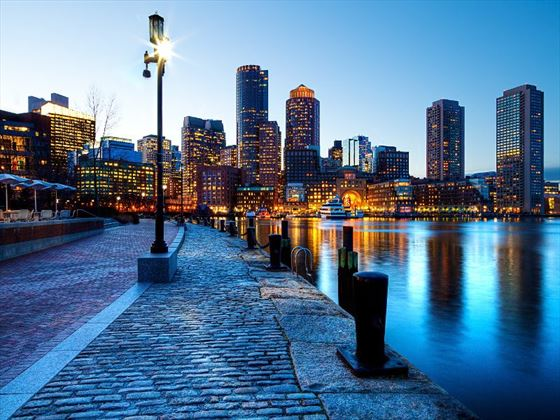 Boston Harbour at night