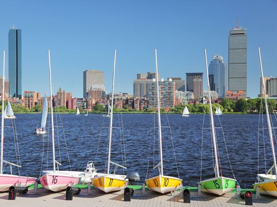 Boston's Back Bay in the summer