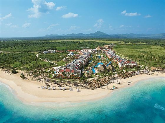 An aerial shot of Breathless Punta Cana Resort & Spa