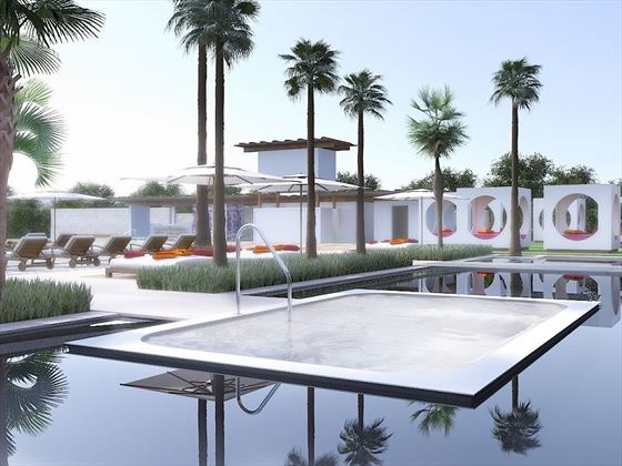 Breathless Montego Bay Jacuzzi and cabanas - artist's impression