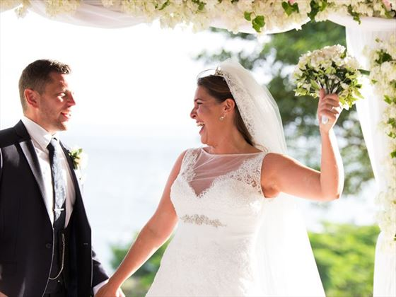 Just married at Calabash Luxury Boutique Hotel & Spa