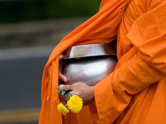 Receiving alms - Chiang Mai