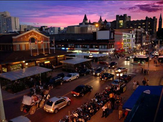 ByWard Market neighbourhood at night, Ottawa