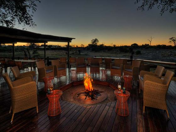 Camp fire at Savute Safari Lodge