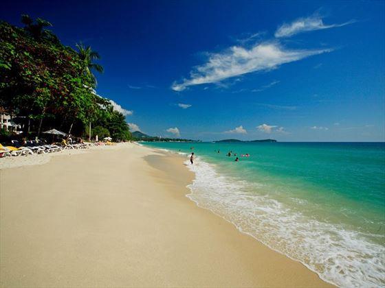 The beach at Centara Grand Beach Resort Samui, Koh Samui
