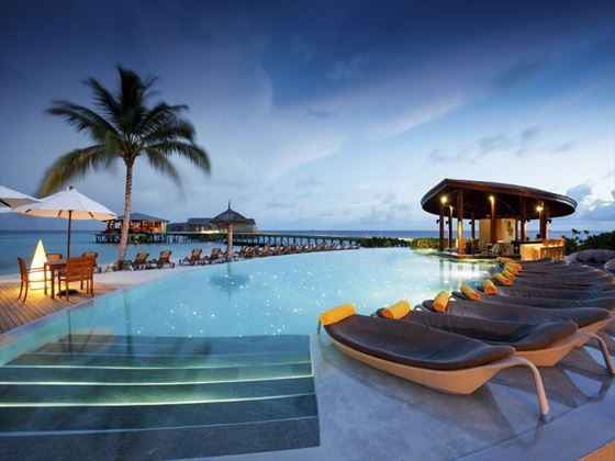 Centara Ras Fushi Resort & Spa pool loungers