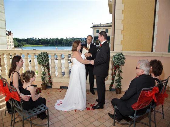Wedding ceremony at Potofino Bay