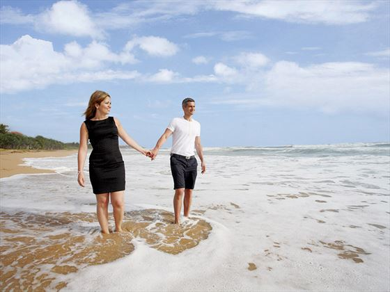 Honeymoon couple on the beach at Centara Ceysands Resort & Spa