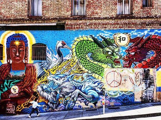 Chinatown street art, San Francisco