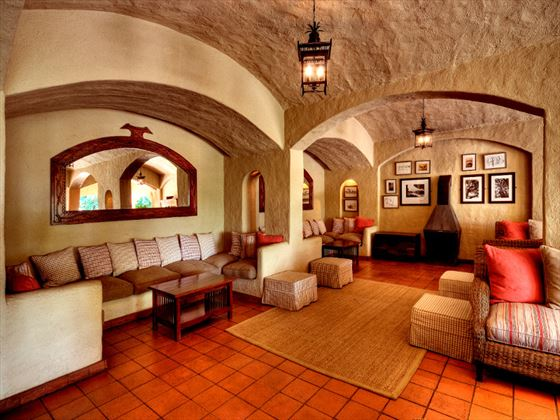 Chobe Game Lodge lounge area