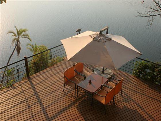 Chobe Safari Lodge terrace