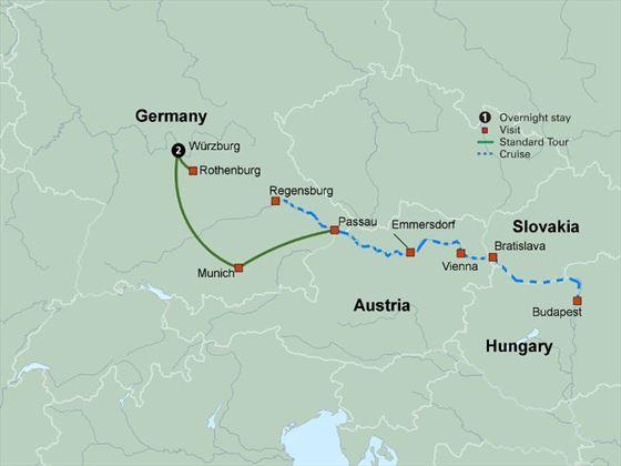 Classic Danube itinerary