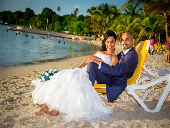 Bride & Groom at Coco Reef Tobago
