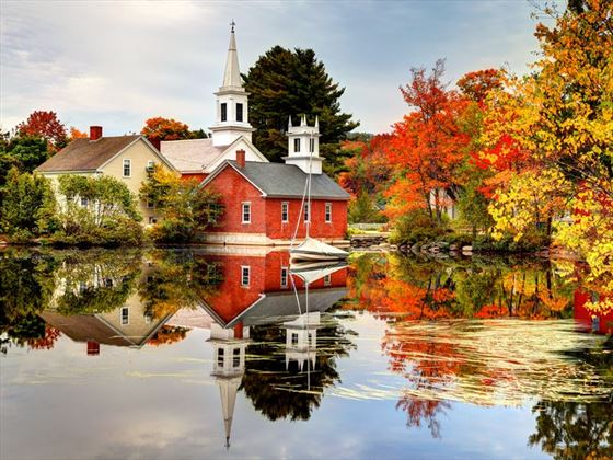 Colours of New Hampshire in the fall