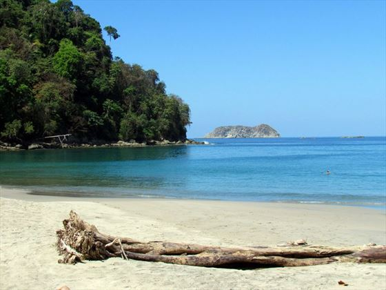 A beach in the Manuel Antonio National Park