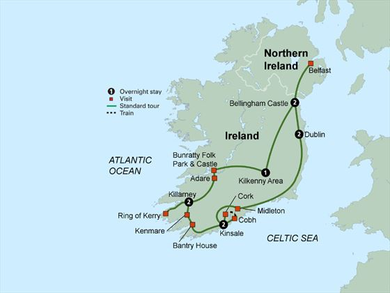 Countryside of the Emerald Isle itinerary