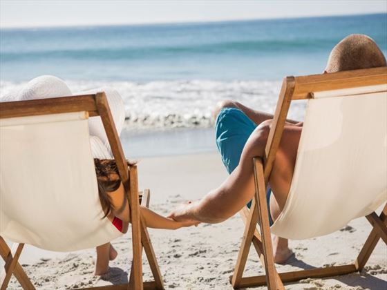 Relax with loved ones on white sand beaches