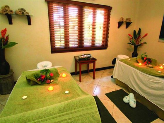 Couples spa treatment room at Sugar Cane Club Hotel & Spa