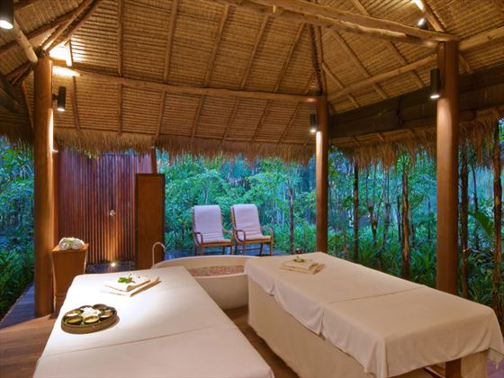 Couples spa treatment room at The Sarojin