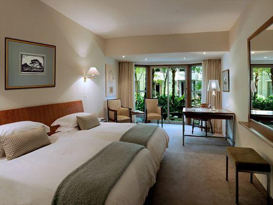 Courtyard-facing room at Vineyard Hotel