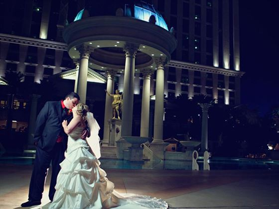 Bride & Groom at Caesars Palace