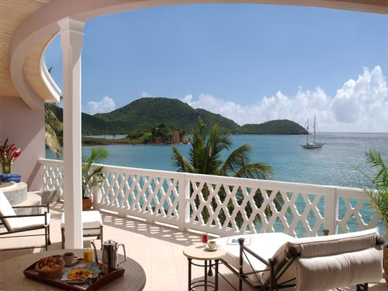 Curtain Bluff Grace and Morris Bay Suite balcony