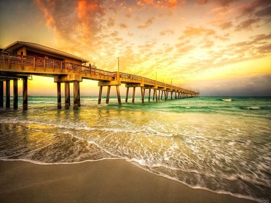 Gorgeous sunsets on Dania Pier, Fort Lauderdale