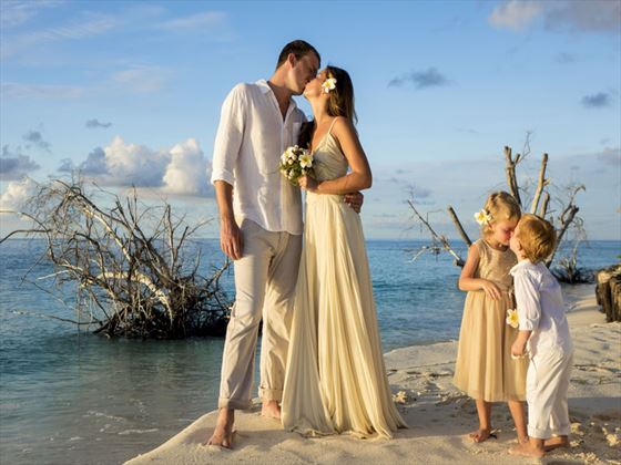 Weddings in paradise on Denis Island