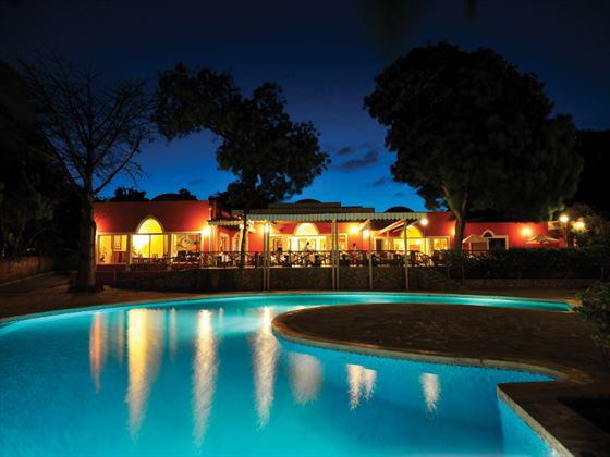 Diamonds Dream of Africa pool at night