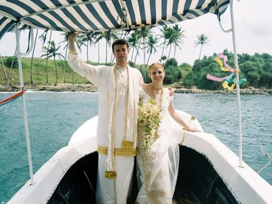 'Love Boat' ride for the Bride and Groom