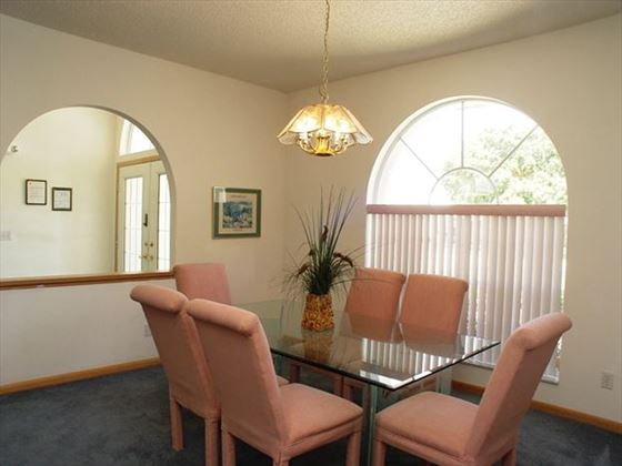 Dining room at New Port Richey Homes