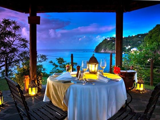 Dining with a view at Cap Maison