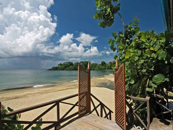 Direct beach access from Le Grand Courlan Spa Resort