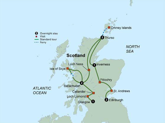 Discover Scotland itinerary