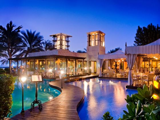 Exterior of Euazone Restaurant at One&Only Royal Mirage Arabian Court