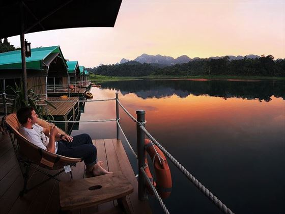 Elephant Hills - Rainforest Camp private terrace