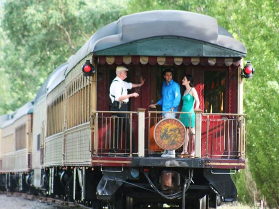 Enjoy a tour on the wine train