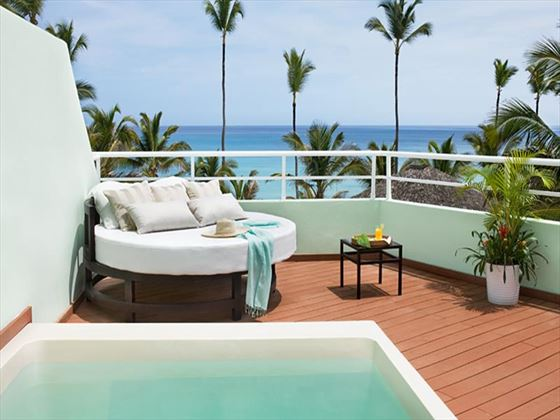 Excellence Punta Cana Junior Suite terrace with Jacuzzi