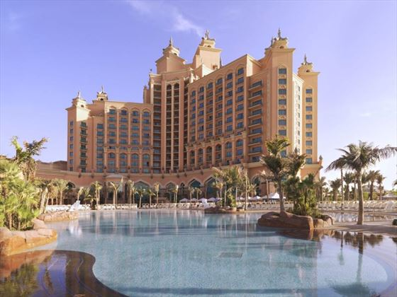 Exterior view from the pools at Atlantis The Palm