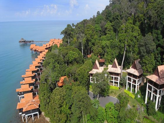 Exterior view of the Premium Chalets at Berjaya Langkawi Resort
