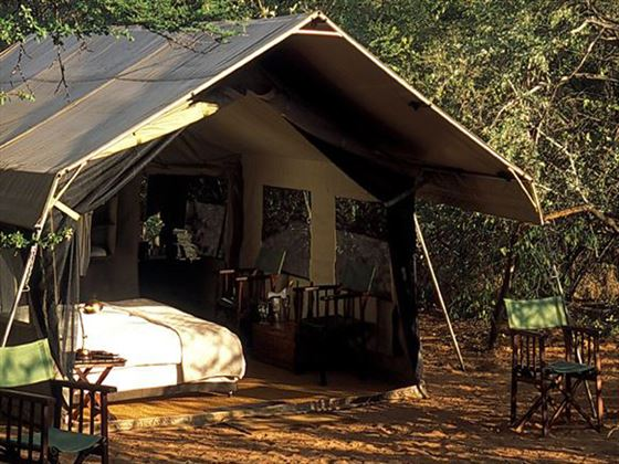 Exterior view of the tent at Chobe Under Canvas